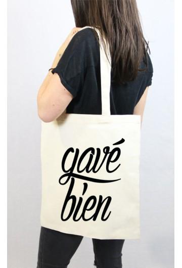 Tote bag noir Gavé Bien wavy