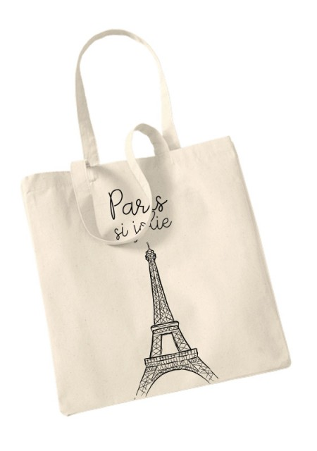 tote bag la ville de paris 100 coton tote the bag. Black Bedroom Furniture Sets. Home Design Ideas