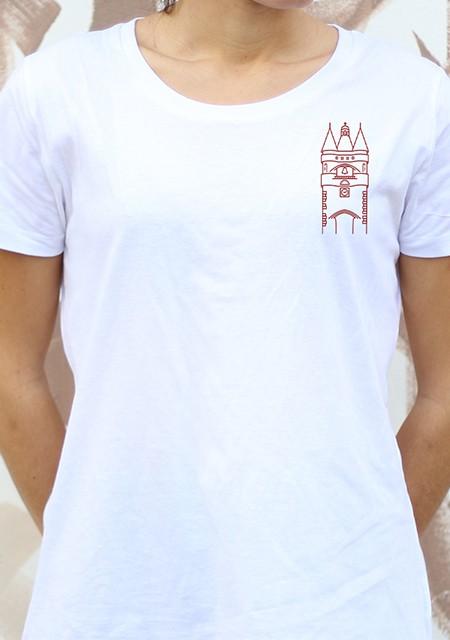 T-shirt femme Gavé Bien grosse cloche bordeaux
