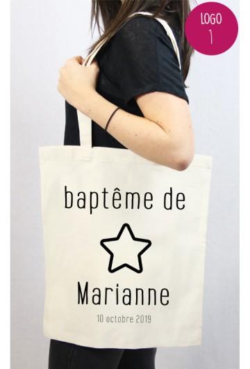 Tote bag Baptême personnalisé