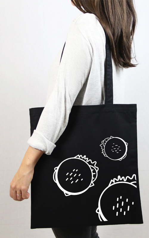 tote bag noir food