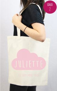 tote bag personnalisable baby shower