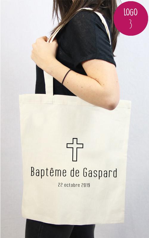 sac en coton personnalisable cadeau original pour un baptême