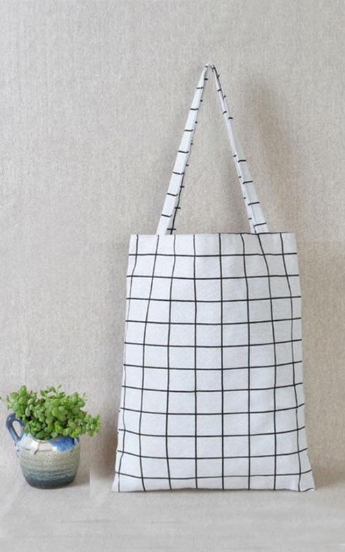 tote bag à rayures pour la cuisine