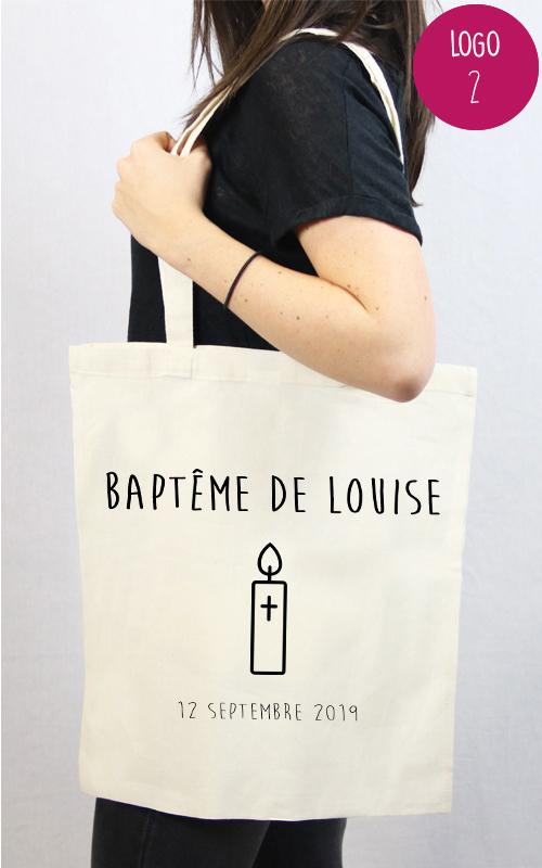 tote bag personnalisable pour un baptême d'enfant